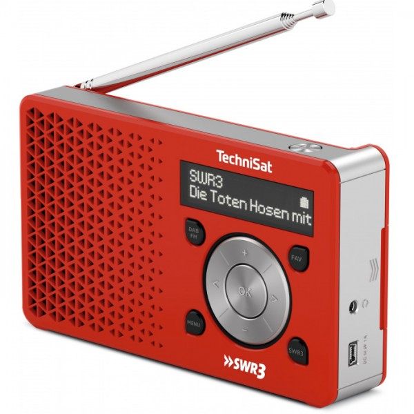 Digitalradio SWR3 Edition, rot/silber